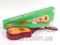 Детская гитара деревянная