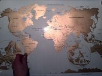 Скретч карта Мира, Днепропетровск
