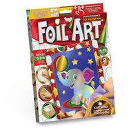 Творчество. Аппликация цветной фольгой по номерам Foil Art